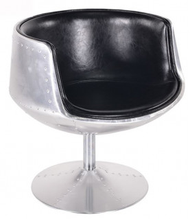 Aviator armchair Cyclone Black