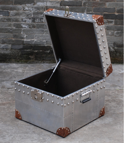 Metal and leather chest Gekko