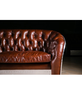 Sevensky Aviator chesterfield loveseat