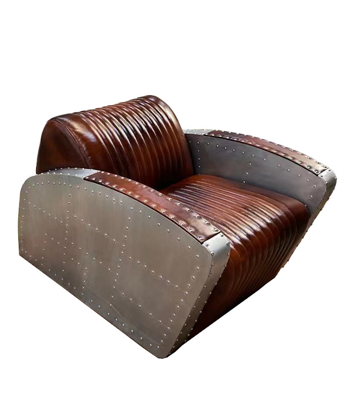 Aviator armchair club style Fortress